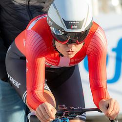 11-03-2021: Wielrennen: Healthy Ageing Tour: Lauwersoog. <br />Amalie Diederiksen