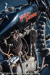 Atsushi (Sushi) Yasui's antique Harley-Davidson racer at the Race of Gentlemen. Wildwood, NJ, USA. October 10, 2015.  Photography ©2015 Michael Lichter.