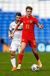 David Brooks of Wales is challenged by Galin Ivanov of Bulgaria - Rogan/JMP - 06/09/2020 - FOOTBALL - Cardiff City Stadium - Cardiff, Wales - Wales v Bulgaria - UEFA Nations League Group B4.
