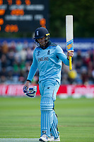 8 June 2019_cricket_CWC 2019_England v Bangladesh<br /> <br /> Jason Roy walks off, out for 153<br /> in the ICC Cricket World Cup at Cardiff<br /> <br /> pic © winston bynorth