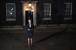 Prime Minister Theresa May makes a statement outside 10 Downing Street, London, confirming that Cabinet has agreed the draft Brexit withdrawal agreement.