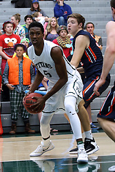07 January 2017:  Jaylen Beasley during an NCAA men's division 3 CCIW basketball game between the Wheaton Thunder and the Illinois Wesleyan Titans in Shirk Center, Bloomington IL