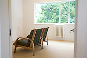 An upstairs sitting room at Warren House, Wayne McGregor's Dartington Estate home in Devon<br /> Vanessa Berberian for The Wall Street Journal