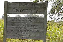 31 August 2017:   Veterans graves in Dawson Cemetery in eastern McLean County.