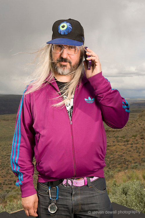 Quincy, WA. - May 28th, 2011 J.Mascis poses for a portrait backstage at the Sasquatch Music Festival in Quincy, WA. United States