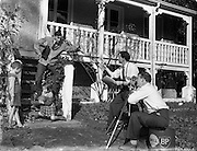 """11/10/1958<br /> 10/11/1958<br /> 11 October 1958<br />  Film crew at """"Ashurst"""". Special for Irish Shell, Film crew in action at """"Ashurst"""" at the top of Mount Merrion Avenue, Dublin."""