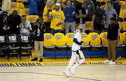 May 31, 2018 - Oakland, CALIFORNIA, UNITED STATES OF AMERICA - during the first half of Game 1 of basketball's NBA Finals in Oakland, Calif., Thursday, May 31, 2018.Armando Arorizo. (Credit Image: © Armando Arorizo/Prensa Internacional via ZUMA Wire)