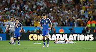 Argentina's Martín Demichelis shows dejection at full time during the 2014 FIFA World Cup Final match at Maracana Stadium, Rio de Janeiro<br /> Picture by Andrew Tobin/Focus Images Ltd +44 7710 761829<br /> 13/07/2014
