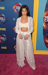 FOX's Teen Choice Awards 2018 at The Forum in Inglewood. California on August 12, 2018. CAP/MPIFS ©MPIFS/Capital Pictures. 12 Aug 2018 Pictured: Lauren Jauregui. Photo credit: MPIFS/Capital Pictures / MEGA TheMegaAgency.com +1 888 505 6342