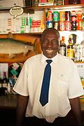 Stanley the bartender in Makuti, Zimbabwe