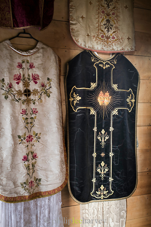 Vestments in Church of Vilupulli on Chiloe Island, Chile