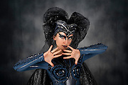 Bat Woman - female actress in her 20s with make up and a bat costume
