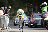 Winner Rohan Dennis of the time trail <br />  during the Eneco Tour 2016 at  at Breda, Breda, Holland on 20 September 2016. Photo by Gino Outheusden.<br /> <br /> Winner Rohan Dennis of the time trail at the Eneco Tour