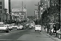 1966 Looking east on Hollywood Blvd. from Highland Ave.