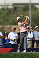 Tommy Fleetwood (ENG) on the 3rd tee during Round 2 of the Omega Dubai Desert Classic, Emirates Golf Club, Dubai,  United Arab Emirates. 25/01/2019<br /> Picture: Golffile   Thos Caffrey<br /> <br /> <br /> All photo usage must carry mandatory copyright credit (© Golffile   Thos Caffrey)