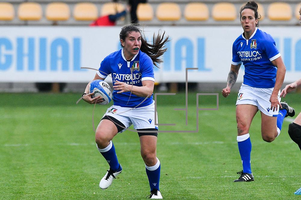 Parma 10/04/2021 Stadio Sergio Lanfranchi<br /> Sei Nazioni femminile 2021<br /> Italia vs Inghilterra <br /> <br /> Maria Magatti