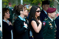 Alaska Gov. Sarah Palin and daughter Bristol Palin at the 2007 Memorial Day ceremony at Ft. Richardson Alaska