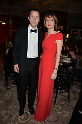 TOM & The HON.ALEXANDRA HOOPER at the 26th Cartier Racing Awards held at The Dorchester, Park Lane, London on 8th November 2016.