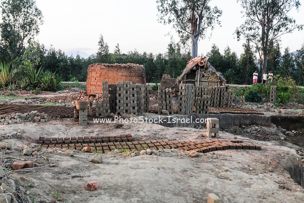 Madagascar, Antalaha, Clay brick factory