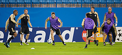 MADRID, SPAIN - Tuesday, October 21, 2008: Liverpool's captain Steven Gerrard MBE during training at the Vicente Calderon ahead of the UEFA Champions League Group D match against Club Atletico de Madrid. (Photo by David Rawcliffe/Propaganda)