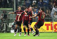 Fotball<br /> Italia Serie A<br /> 14.10.2006<br /> Sampdoria v Milan 1-1<br /> Foto: Inside/Digitalsport<br /> NORWAY ONLY<br /> <br /> Kaka Kaladze (2nd L) (Milan) celebrates after scoring draw with teammates Paolo Maldini (L), Cristian Brocchi (2nd R) Alessandro Nesta (R)