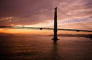 Golden Gate Bridge, dawn, San Francisco, California