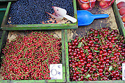 Krakow, Poland summer fruit in market.