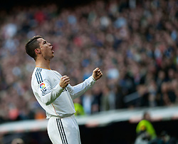 MADRID, Jan. 26, 2014  Real Madrid's Cristiano Ronaldo celebrates his goal during the Spanish first division soccer match against Granada in Madrid Jan. 25, 2014. Real Madrid won the match 2-0. (Xinhua/Xie Haining) (Credit Image: © Xinhua via ZUMA Wire)