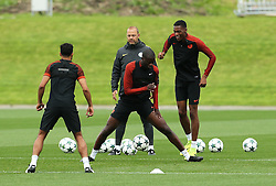 Yaya Toure and Tosin Adarabioyo of Manchester City train - Mandatory by-line: Matt McNulty/JMP - 12/09/2016 - FOOTBALL - Manchester City - Training session ahead of Champions League Group C match against Borussia Monchengladbach