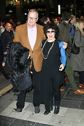 Ruby Wax, Barry Humphries Eat, Pray, Laugh - press night, London Palladium, London UK, 15 November 2013, Photo by Richard Goldschmidt © Licensed to London News Pictures. Photo credit : Richard Goldschmidt/Piqtured/LNP