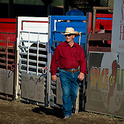 Cal Ruark the rodeo boss at the Darby MT Elite Proffesionals Bull Riding Event July 7th 2017.  Photo by Josh Homer/Burning Ember Photography.  Photo credit must be given on all uses.