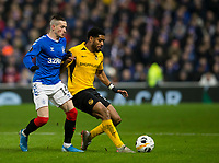 Football - 2019 / 2020 UEFA Europa League - Group G: Rangers vs. BSC Young Boys<br /> <br /> Ryan Kent of Rangers vies with Saidy Janko of Young Boys FC, at Ibrox Stadium.<br /> <br /> COLORSPORT/BRUCE WHITE