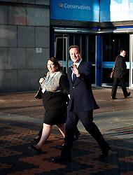 Conservative Party Conference, ICC, Birmingham, Great Britain <br /> Day 3<br /> 9th October 2012 <br /> <br /> Rt Hon David Cameron MP<br /> Prime Minister <br /> outside conference centre<br /> <br /> <br /> <br /> Photograph by Elliott Franks<br /> <br /> United Kingdom<br /> Tel 07802 537 220 <br /> elliott@elliottfranks.com<br /> <br /> ©2012 Elliott Franks<br /> Agency space rates apply