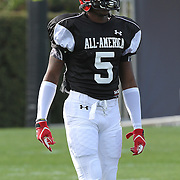 Jabari Gorman during the practice session at the Walt Disney Wide World of Sports Complex in preparation for the Under Armour All-America high school football game on December 3, 2011 in Lake Buena Vista, Florida. (AP Photo/Alex Menendez)