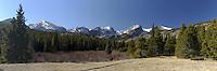 Panorama at Storm Pass Trailhead, Rocky Mountain National Park, Colorado
