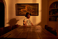 Musician Langhorne Slim photographed in his home in Nashville, TN.
