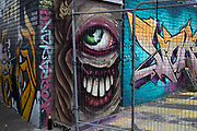 Street art graffiti in Digberth, Birmingham, United Kingdom. Digbeth is an area of Central Birmingham, England. Following the destruction of the Inner Ring Road, Digbeth is now considered a district within Birmingham City Centre. As part of the Big City Plan, Digbeth is undergoing a large redevelopment scheme that will regenerate the old industrial buildings into apartments, retail premises, offices and arts facilities. There is still however much industrial activity in the south of the area.