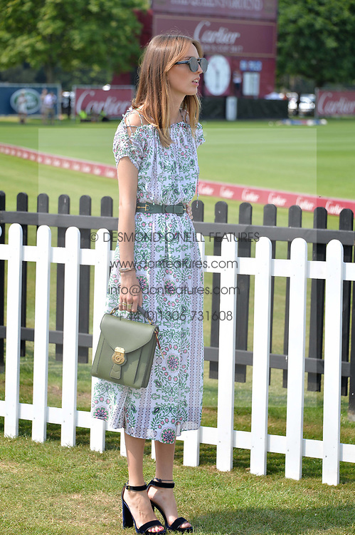 Lady Alice Manners at Cartier Queen's Cup Polo, Guard's Polo Club, Berkshire, England. 18 June 2017.