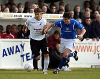 Photo: Olly Greenwood/Sportsbeat Images.<br />Billericay Town v Swansea City. The FA Cup. 10/11/2007. Swansea's Andrea Orlandi and Billericay's Paul Abbott