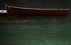 THEMENBILD - ein Ruderboot auf dem Pragser Wildsee, aufgenommen am 11. Mai 2018, Prags, Österreich // a rowing boat on the Pragser Wildsee on 2018/05/11, Prags, Austria. EXPA Pictures © 2018, PhotoCredit: EXPA/ Stefanie Oberhauser