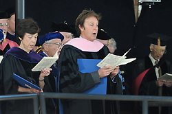 Paul McCartney after receiving his Honorary Doctor of Music Degree, Mus. D, Yale University, New Haven, CT