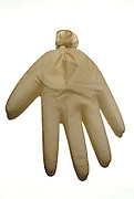 rubber glove filled with air