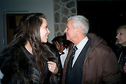 Charlotte Stockdale; Larry Gagosian,  Prada Congo Art Party hosted by Miuccia Pada and Larry Gagosian. The Double Club,  Torrens St. London EC1. The Double Club is A Carsten Holler project by Fondazione Prada. 10 February 2009. *** Local Caption *** -DO NOT ARCHIVE-© Copyright Photograph by Dafydd Jones. 248 Clapham Rd. London SW9 0PZ. Tel 0207 820 0771. www.dafjones.com.<br /> Charlotte Stockdale; Larry Gagosian,  Prada Congo Art Party hosted by Miuccia Pada and Larry Gagosian. The Double Club,  Torrens St. London EC1. The Double Club is A Carsten Holler project by Fondazione Prada. 10 February 2009.