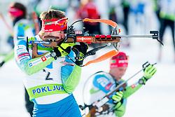 Lenart Oblak of Slovenia during Slovenian National Cup in Biathlon, on December 30, 2017 in Rudno polje, Pokljuka, Slovenia. Photo by Ziga Zupan / Sportida