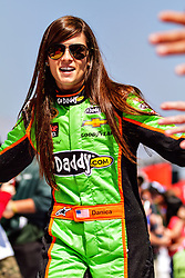 Fontana, CA/USA (Sunday, March 24, 2013) -  NASCAR Sprint Cup Series Driver Danica Patrick shakes hands with fans during drivers introductions at the Auto Club Speedway in Fontana, CA   PHOTO © Eduardo E. Silva/SILVEX.PHOTOSHELTER.COM.