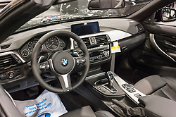 CHARLOTTE, NC, USA - November 11, 2015: BMW 435i convertible on display during the 2015 Charlotte International Auto Show at the Charlotte Convention Center in downtown Charlotte.