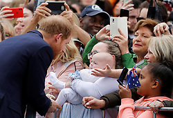 The Duke of Sussex meets members of the public at the Royal Botanic Gardens in Melbourne on the third day of the royal couple's visit to Australia.