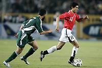 Fotball<br /> Foto: Dppi/Digitalsport<br /> NORWAY ONLY<br /> <br /> AFRICAN CUP OF NATIONS 2006 - FIRST ROUND - GROUP A - EGYPT v LIBYA<br /> <br /> MOHAMED BARAKAT (EGY) / MOHAMED SULIMAN (LIB)