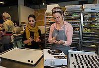 Alexandra Whisnant - Gate Comme des Filles Chocolate Factory in Somerville, MA.  ©2017 Karen Bobotas Photographer
