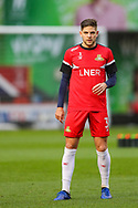 Doncaster Rovers defender Danny Andrew (3) warms up prior to the The FA Cup 2nd round match between Charlton Athletic and Doncaster Rovers at The Valley, London, England on 1 December 2018. Photo by Toyin Oshodi